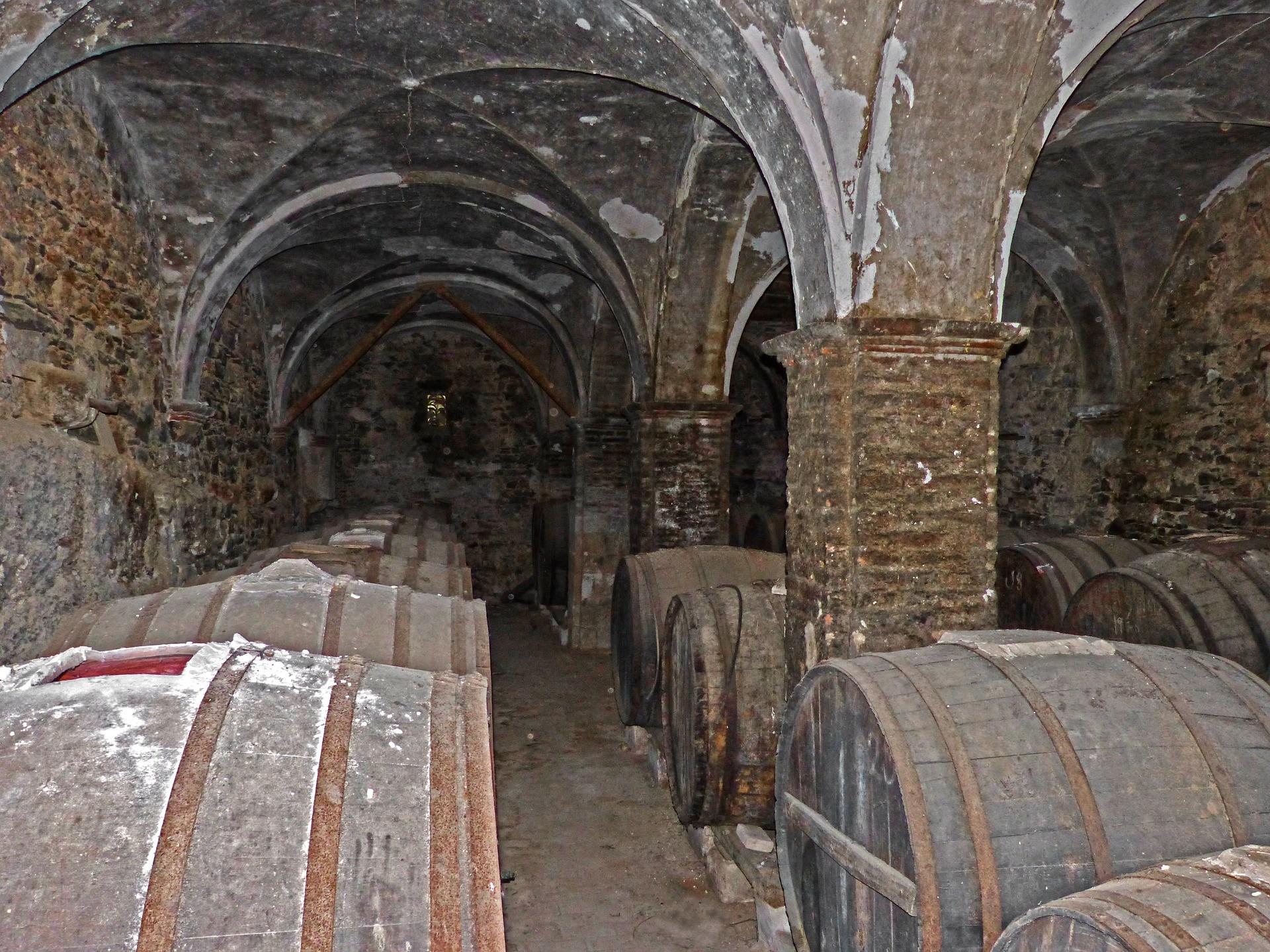 Produzione del vino - igiene cantina vecchia