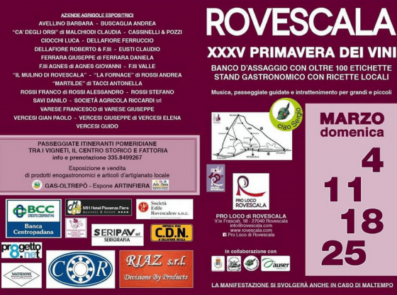 primavera dei vini di Rovescala