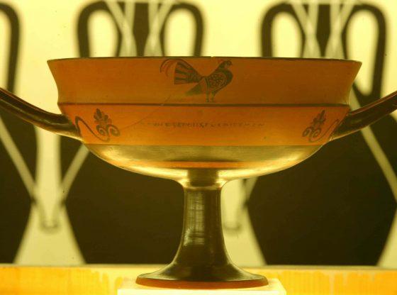 Phrynos, Kylix, ceramica a figure nere, Vulci, metà sec. VI a.C.