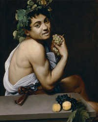 young, sick bacchus