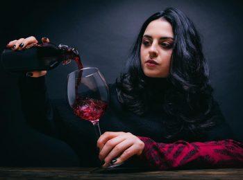 Foto calice vino rosso