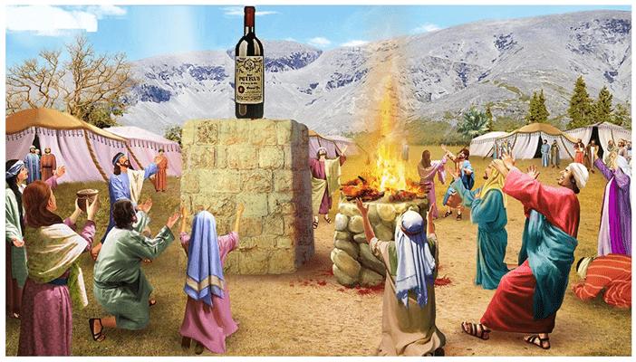 vino e immagini bibliche